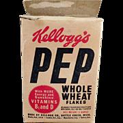 Old, Kellogg's Pep Cereal Box - Kel-Bowl-Pac Packaging