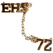 Old High School Pin - EHS 1972