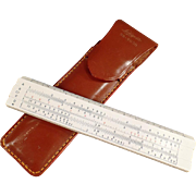 Old, Pocket Slide Rule with Pouch - Lafayette #99-7030