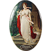 Old, Celluloid Advertising Mirror - Queen Quality Shoes
