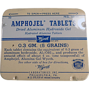 Old, Amphojel Tablets, Medicine Tin - Wyeth