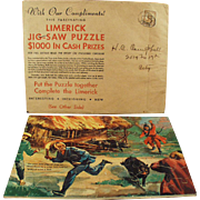 Old, Advertising Puzzle Premium - Fun & Colorful Limerick