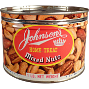 Old, Johnson's Home Treat, Mixed Nuts Tin