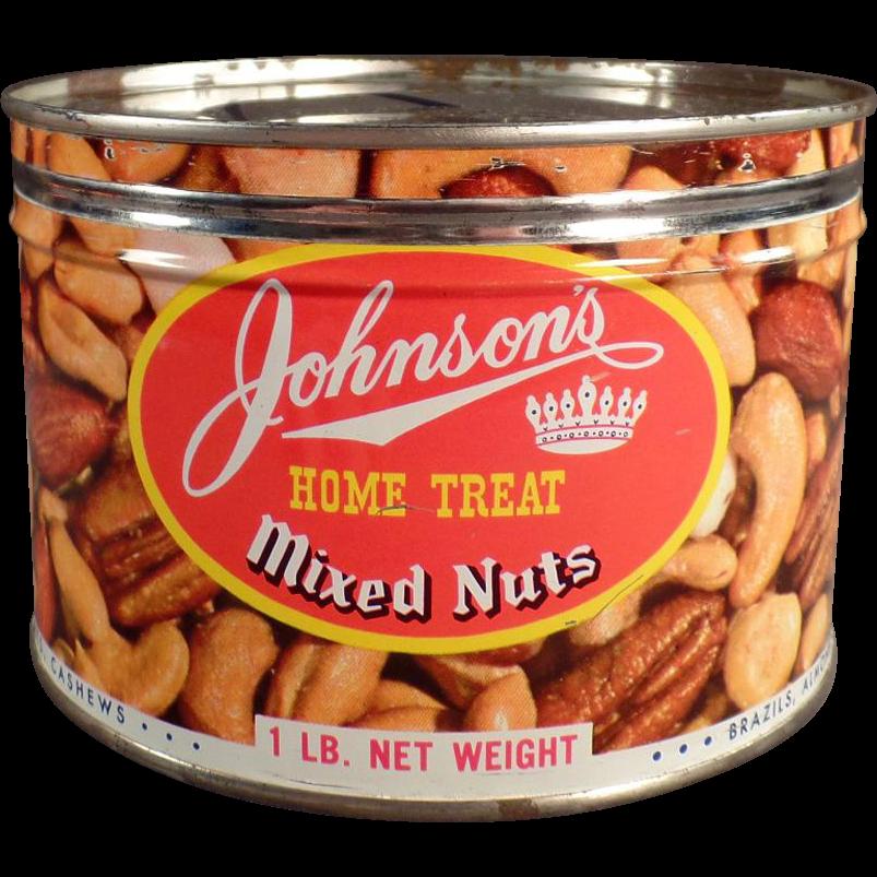 Old, Johnson's Home Treat, Mixed Nuts Tin