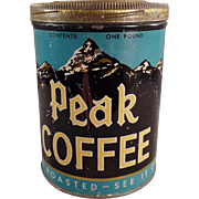 Old Coffee Tin - Peak Coffee - Independent Grocers Alliance