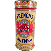Old, French's Spice Tin - Nice Graphics