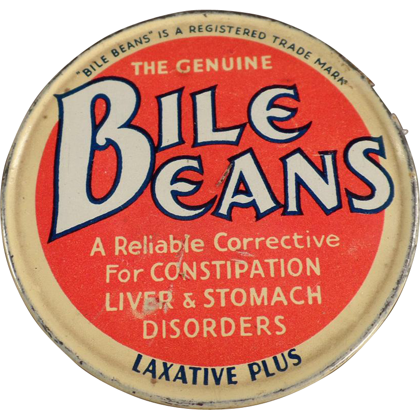 Old Medicine Tin - Biles Beans Laxative Twists
