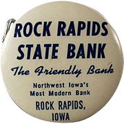Old, Celluloid Advertising Tape Measure - Rock Rapids State Bank