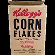Old, Kellogg's Corn Flakes Cereal Box - Kel-Bowl-Pac Packaging