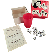 """Old """"Toss Words"""" Game - Complete with Original Box & Instructions"""