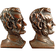Old, Cast Iron, Abraham Lincoln Bookends
