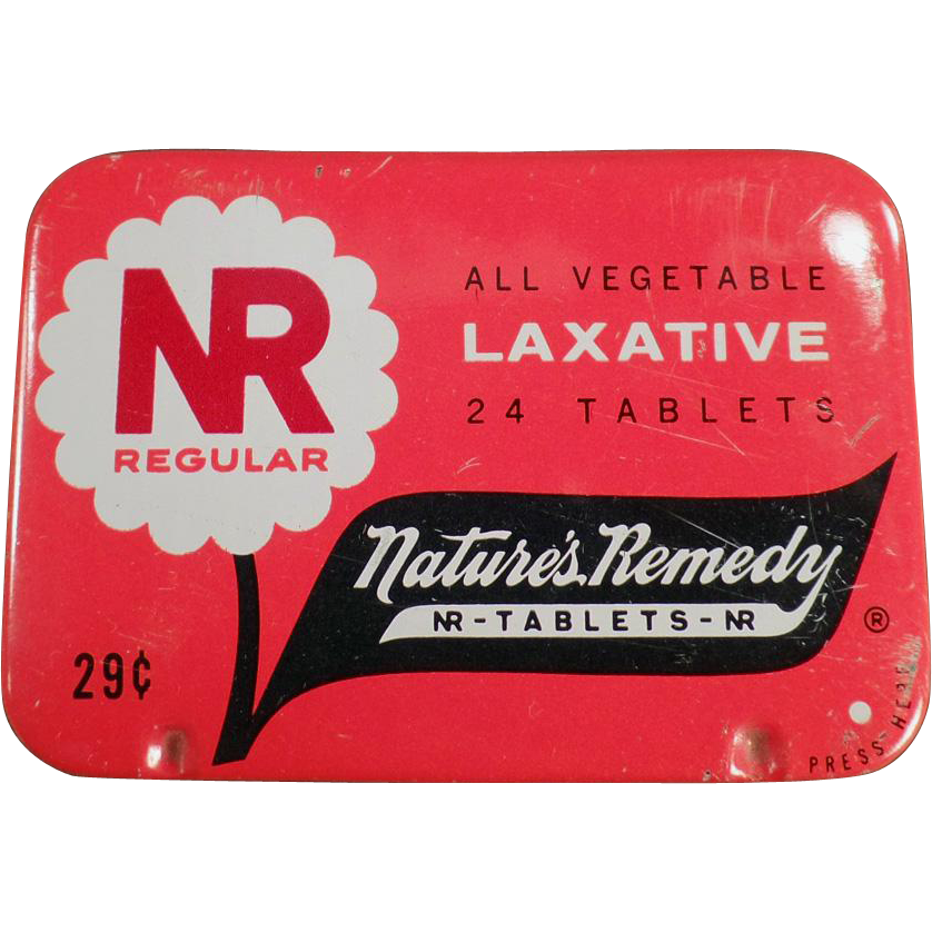 Old, Nature's Remedy - NR Regular, Laxative Tin
