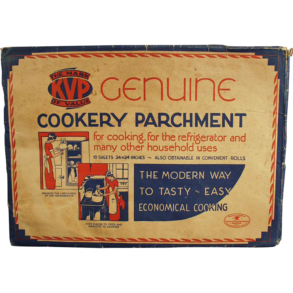 Old, Cookery Parchment Paper - Kitchen Decorating Item