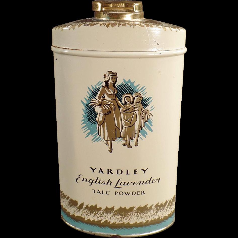 Old, Talc Tin - Yardley's English Lavender