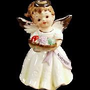 Old, November Birthday, Porcelain Angel Figurine