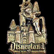 Old Disneyland Key Chain with Tinkerbell & the Magic Kingdom