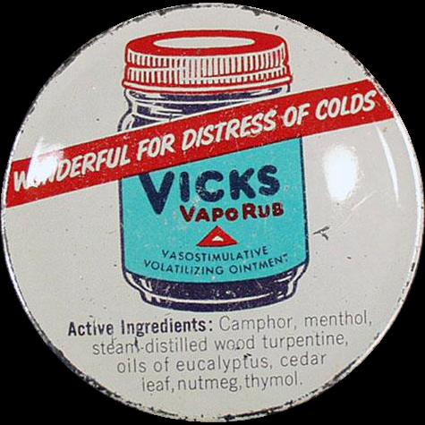 Old, Vicks Vaporub Tin with Nice Graphics