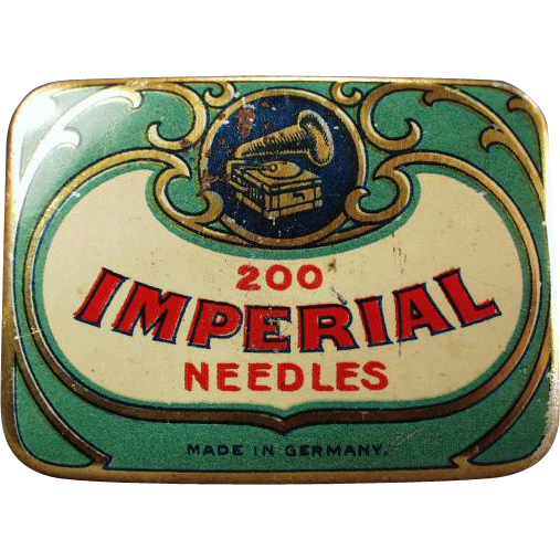 Old, Phonograph Needle Tin - Imperial - German