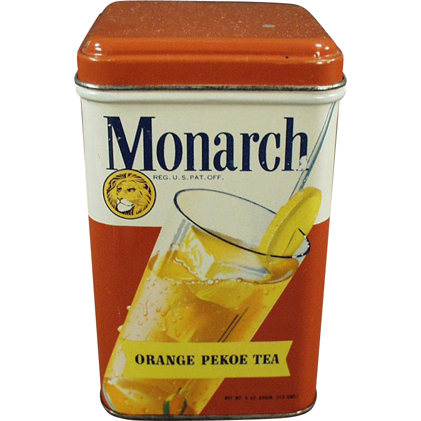 Old, Monarch Tea Tin with Nice Graphics