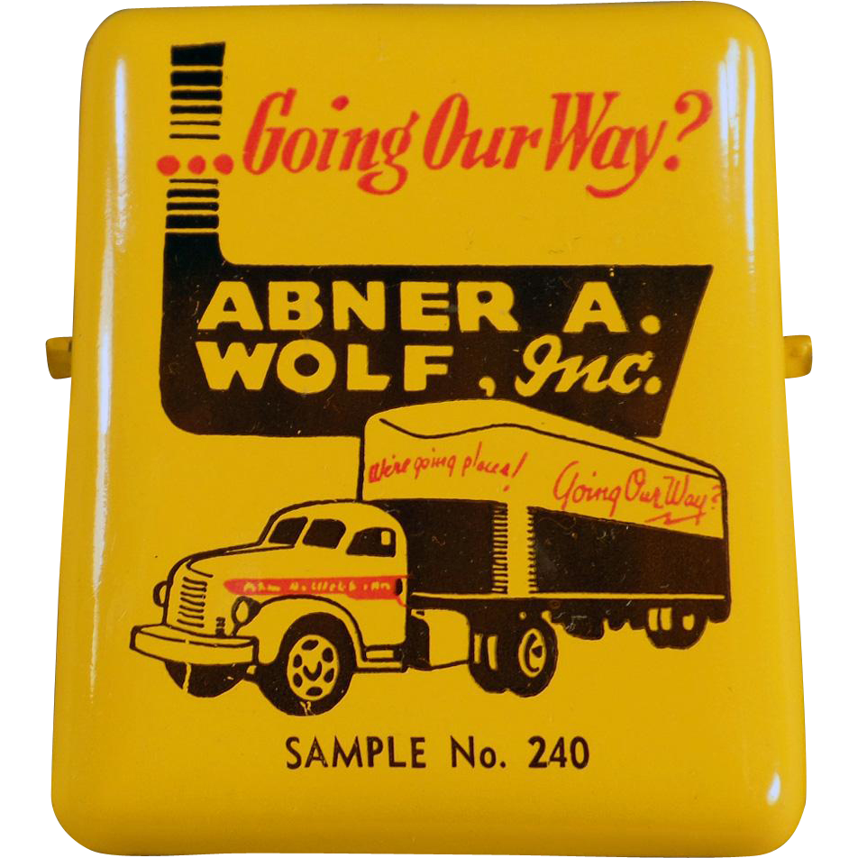 Old, Advertising Paper Clip - Abner A. Wolf, Inc.