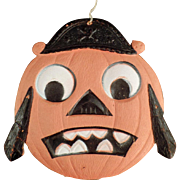 Old, Halloween Decoration - Die Cut Pirate Pumpkin Face