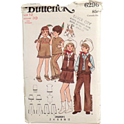 Children's Old Costumes Pattern - Cowboys & Indians - Butterick #6296