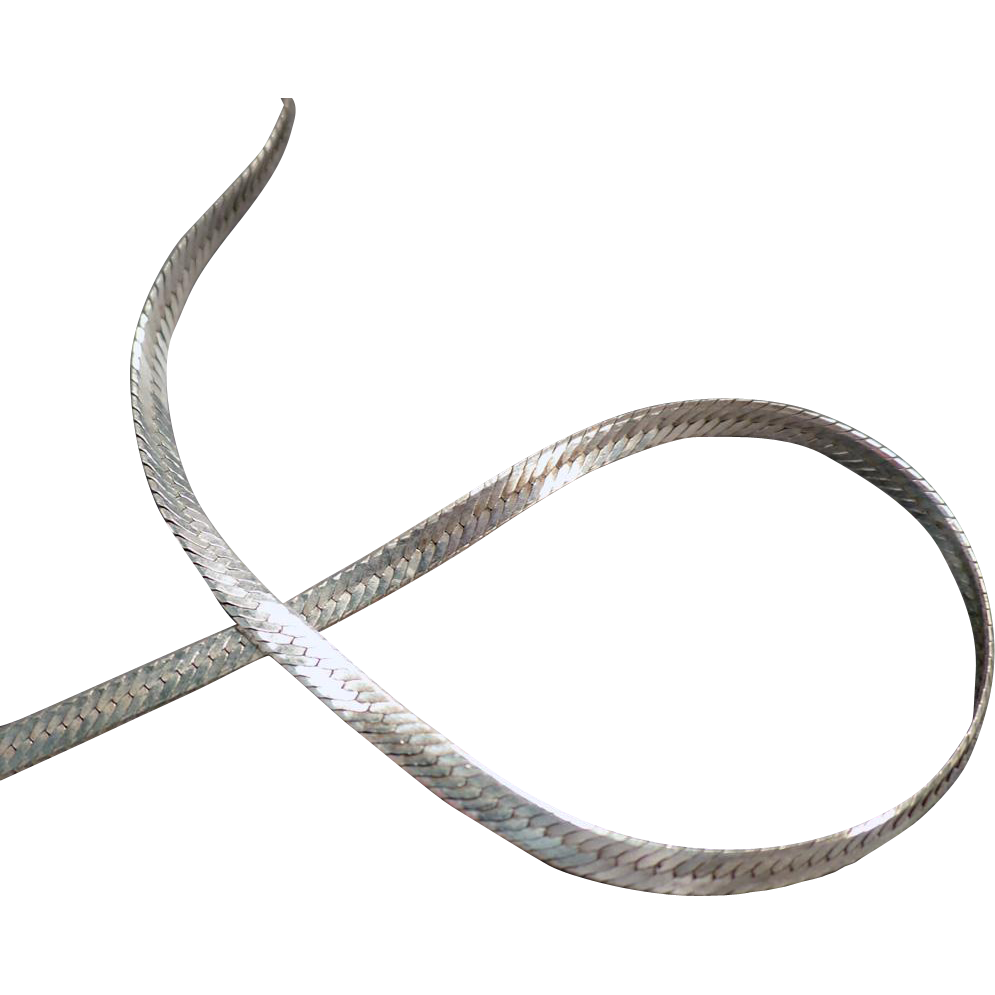 24 Inch, Sterling Silver, Herringbone Neck Chain - Very Flashy