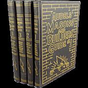 Old, Audels Masons & Builders Guide - 4 Book Set - 1950