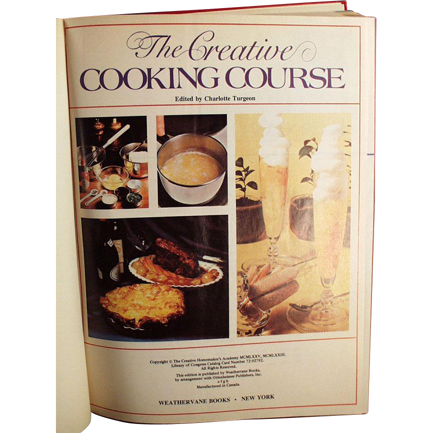 Old Cookbook - The Creative Cooking Course by Turgeon