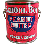 Old, School Boy Peanut Butter Tin - 1# Pail