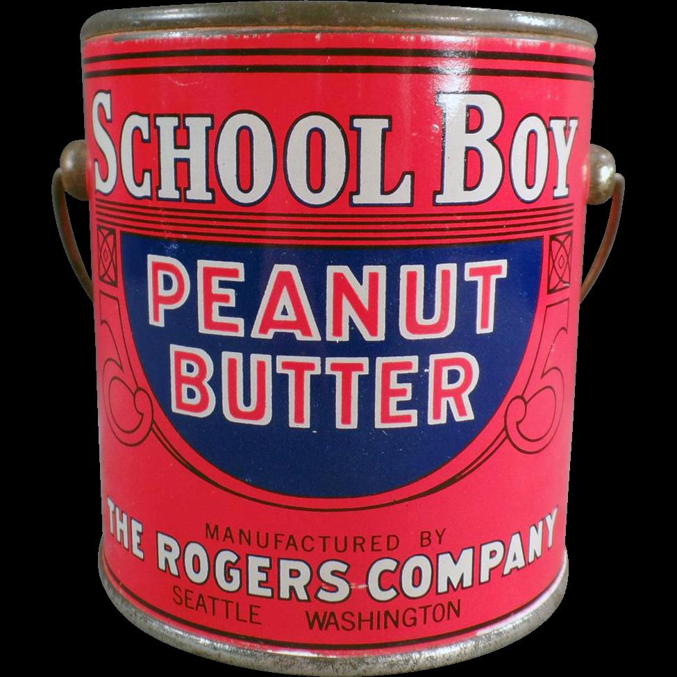 Old, School Boy Peanut Butter Tin - 1# Pail