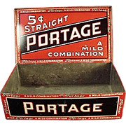 Old Tobacco Tin - Portage Cigars Counter Display Tin