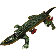 Old, German Penny Toy - Little, Tin Alligator