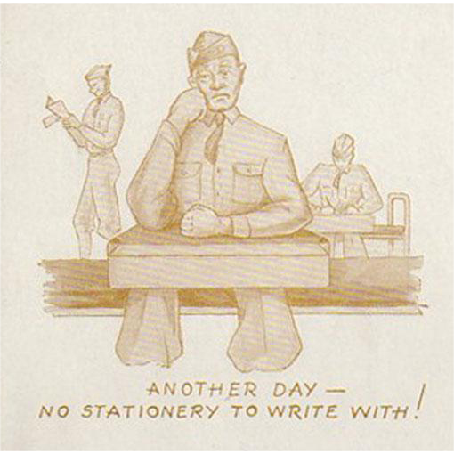 Old, Advertising Ink Blotter - Ritter's Stationery with Soldier Image