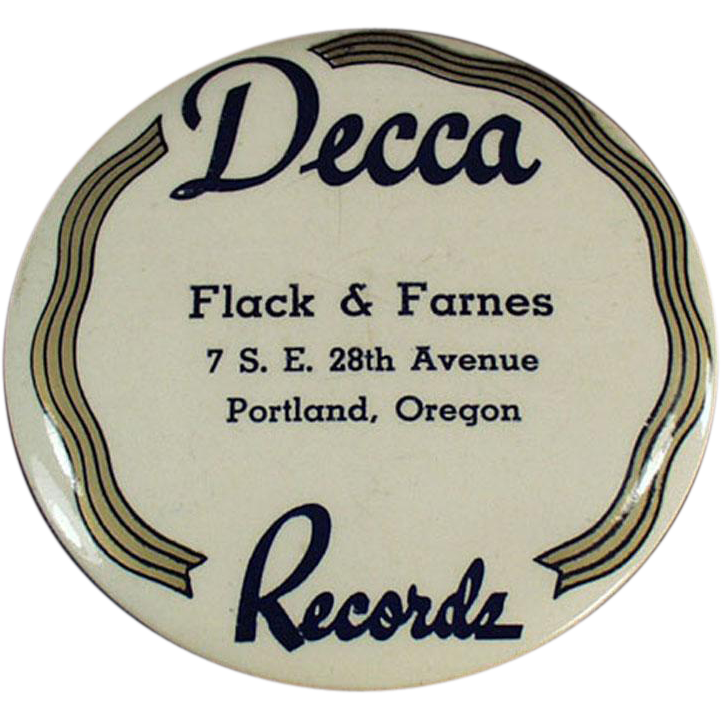 """Old, """"Decca"""" Record Duster - Celluloid"""