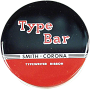 Old Typewriter Ribbon Tin - Smith Corona, Type Bar