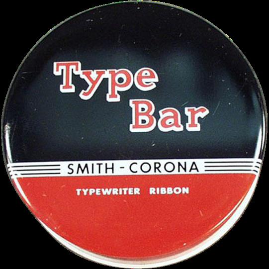Old Typewriter Ribbon Tin - Smith Corona, Type Bar