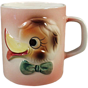 Child's Old Milk Cup with Funny Duck Face