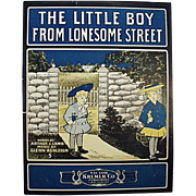 Vintage Sheet Music- The Little Boy From Lonesome Street
