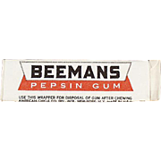 Stick of Old Chewing Gum - Beemans Pepsin - Never Opened