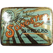 Old, Phonograph Needle Tin - Songster
