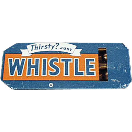 Vintage Tin Whistle - Whistle Soda Advertising