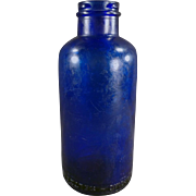 Old, Cobalt Blue, Bromo-Seltzer Dispensing Bottle