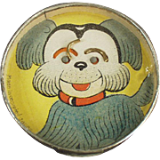 Old Dexterity Puzzle - Dog Face with Mirror Back - O.J.