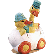 Old, Easter Candy Container - Ducks in Egg Car, Germany