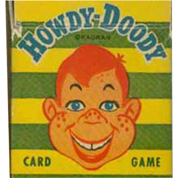 Old, Howdy Dowdy Card Game with Original Box