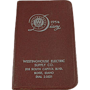 Old, 1954 Westinghouse Advertising Diary - Boise, Idaho