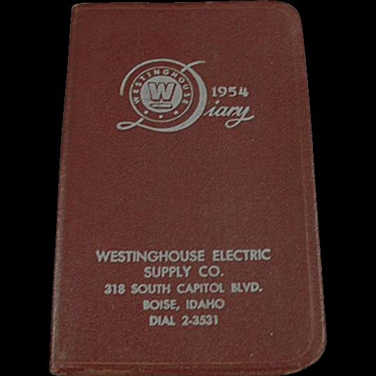 Old, 1954 Westinghouse Advertising Diary - Boise, Idaho