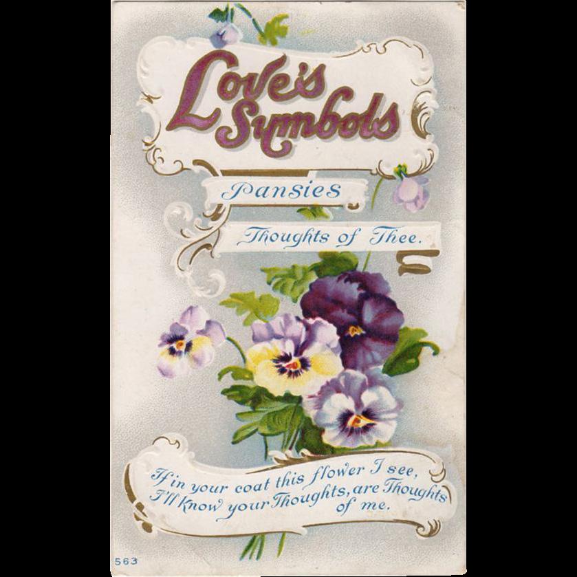 Vintage Postcard - Symbols of Love