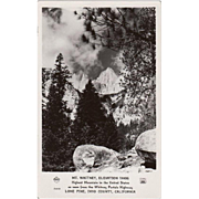 Vintage, Photograph Postcard - Mt Whitney